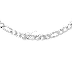 Łańcuszek diamentowany figaro płaskie pr. 925 ø 0150 rodowany - rodowanie  6,8 mm