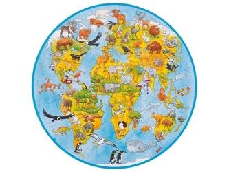 Mapa świata xxl tekturowe puzzle 49 el.