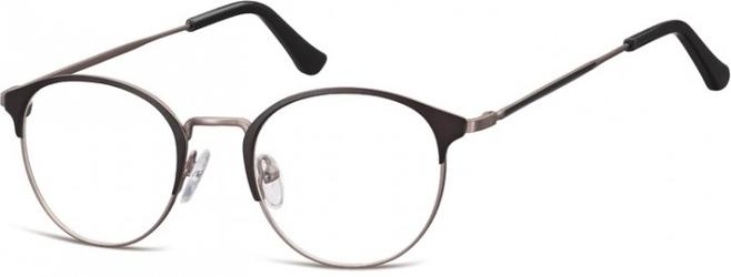 Oprawki okularowe lenonki damskie stalowe sunoptic 973 czarno-grafitowe