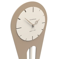 Zegar ścienny z wahadłem sally calleadesign aluminium 11-001-2