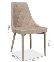 Krzesło do jadalni ritt 3 beż