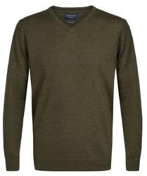 Elegancki zielony sweter prufuomo z delikatnej wełny merynosów xxl
