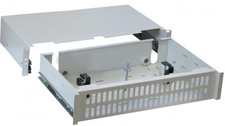 Przełącznica światłowodowa 2u 19 48x sc duplex szara wysuwana - szybka dostawa lub możliwość odbioru w 39 miastach