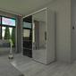 Szafa przesuwna o150 x 245 - czarne szkło