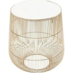 Kare design :: stolik beam white marble brass ø32cm