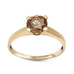 Staviori pierścionek. cyrkonia. żółte złoto 0,333.   model ozdobiono cyrkonią w kolorze szampańskim