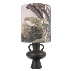 HK Living :: Klosz do lampy stołowej nadruk dżungla rozmiar L naturalny - naturalny