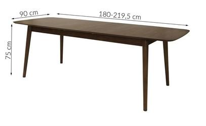 Stół rozkładany morso 180-220cmx75 cm orzech