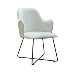 Nowoczesne krzesło tapicerowane natan x na metalowych nogach