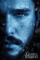 Game of thrones winter is here jon snow - plakat