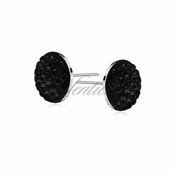 Kolczyki półkulki 6mm czarne