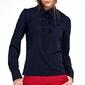 Granatowa nietuzinkowa koszulowa bluzka z kokardkami