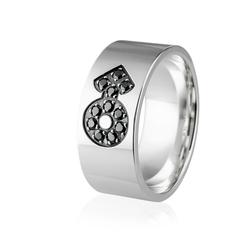 Obrączka srebrna męska z symbolem mężczyzny - wzór ag-207