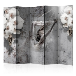 Parawan 5-częściowy - układ z orchideą ii room dividers