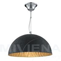 Dome lampa wisząca 1 czarny złoty