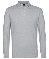 Męska koszulka polo z długim rękawem profuomo szara s