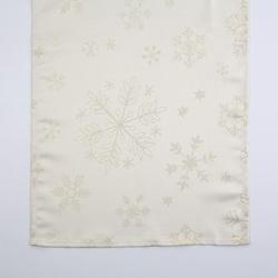 Bieżnik na stół świąteczny boże narodzenie altom design złote płatki śniegu 40 x 140 cm
