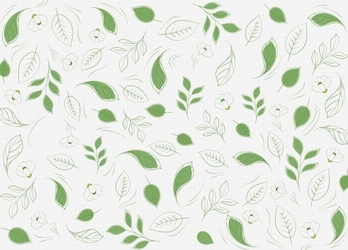 Zielone listki - fototapeta