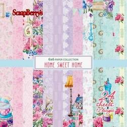 Ozdobny papier Home Sweet Home 15x15 cm - zestaw