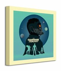 Guardians Of The Galaxy Silhouettes - Obraz na płótnie