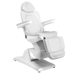 Fotel kosmetyczny elektr. azzurro 870 3 siln. biały