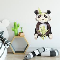 Naklejka na ścianę - tropical panda , wymiary naklejki - szer. 50cm x wys. 80cm