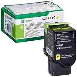 Toner oryginalny lexmark c242 c242xy0 żółty - darmowa dostawa w 24h
