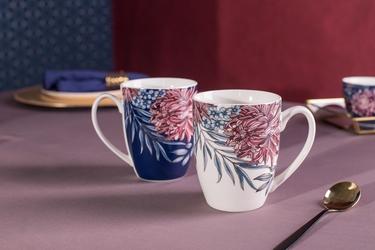 Kubki do kawy i herbaty porcelanowe altom design margo 300 ml, komplet 2 kubków