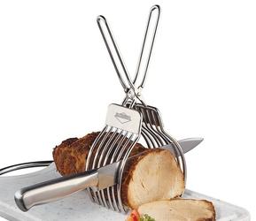 Uchwyt ze szczypcami do krojenia pieczeni küchenprofi