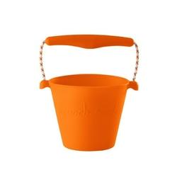 Zwijane wiaderko silikonowe scrunch bucket - pomarańczowe