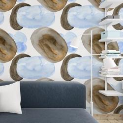 Tapeta na ścianę - bluebrown art , rodzaj - tapeta flizelinowa laminowana