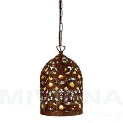 Moroccan lampa wisząca antyczny brąz akryl