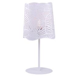 Lampa gabinetowa, biała, metalowy klosz maracana candellux 41-18024