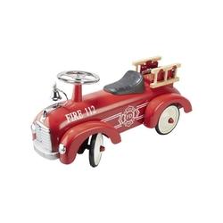 Metalowy jeździk wóz strażacki retro