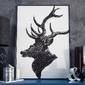 Vintage deer - plakat w ramie , wymiary - 70cm x 100cm, kolor ramki - biały