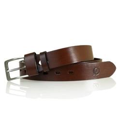 Ciemno brązowy elegancki męski skórzany pasek brodrene lb01