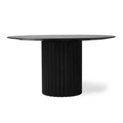 Hk living :: stół jadalniany pillar okrągły czarny