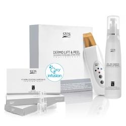 Syis urządz. dermo liftpeel skin scrubber złota szpatuła + kosmetyki syis