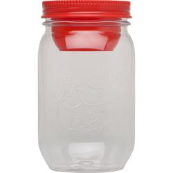 Słoik na sałatki z pojemnikiem na sos Aladdin Crave czerwony 10-01828-002