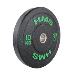 Obciążenie olimpijskie gumowane htbr10 10 kg - hms - 10 kg