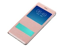 Etui flip cover z okienkiem dotykowym s-view do huawei p9 lite - różowy
