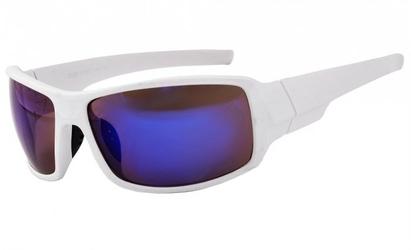 Biale okulary sportowe lustrzane przeciwsloneczne speed 779