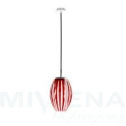Tentacle lampa wisząca 1 szkło akryl czerwony 30cm