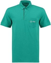 Koszulka polo męska mercedes amg petronas zielona - zielony