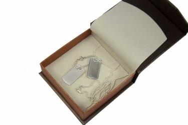 Nieśmiertelniki srebro 925 s3+grawer zdjecia tekstu