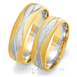 Obrączki ślubne złoty skorpion – wzór au-oe193
