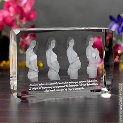 Zdjęcie grawerowane wewnątrz szkła • fotokryształ 2d • mega duży ozdobny, poziomo