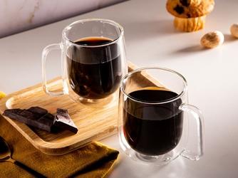 Szklanki z podwójną ścianką i dnem termiczne do napojów altom design andrea, 300 ml komplet 2 szklanek