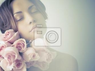 Fototapeta charming dama z ró