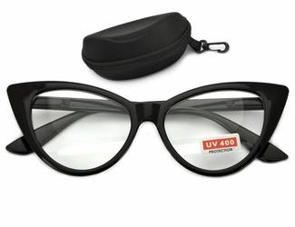 Kocie oczy okulary zerówki damskiecat eyesoprawki st210